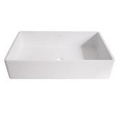 Magnolia Matte Stone Vessel Bathroom Sink in Matte White, 21-1/4'' W x 13-1/16'' D x 4-3/4'' H
