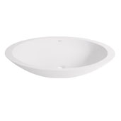 Wisteria Matte Stone Vessel Bathroom Sink in Matte White, 23'' W x 13-5/8'' D x 4'' H