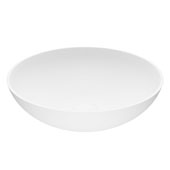 Lotus Matte Stone™ Vessel Bathroom Sink, 16''Diameter X 4-1/2''H, ADA Compliant