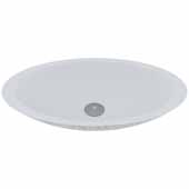 VIGO Yarrow Round Oval Cast Stone Vessel Bowl Bathroom Sink, 13-1/2''W x 23-1/8''D x 3-7/8''H
