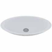 VIGO Yarrow Round Oval Cast Stone Vessel Bowl Bathroom Sink, 13-1/2''W x 23-1/8''D x 3-7/8''H