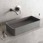 Concreto Stone™ Grand Rectangular Bathroom Vessel Sink, Gray, 23-5/8'' W x 13-3/4'' D x 4-3/4'' H