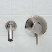 Olus Brushed Nickel Finish Single Lever Wall Mount Faucet