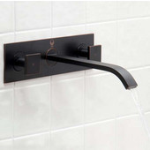 Titus Antique Rubbed Bronze Finish Dual Lever Wall Mount Faucet with Pop Up