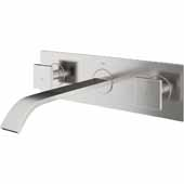 Titus Bathroom Faucet, Brushed Nickel, Spout Reach: 8-1/4'