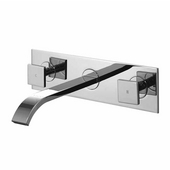 Titus Dual Handle Wall Mount Chrome Faucet