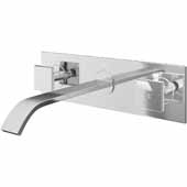 Titus Bathroom Faucet, Chrome, Spout Reach: 8-1/4'
