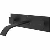 Titus Bathroom Faucet, Matte Black, Spout Reach: 8-1/4'