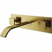 Titus Bathroom Faucet, Matte Gold, Spout Reach: 8-1/4''