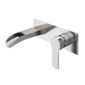 Cornelius Wall Mount Bathroom Faucet In Brushed Nickel