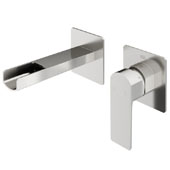 Atticus Wall Mount Bathroom Faucet In Brushed Nickel