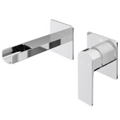 Atticus Wall Mount Bathroom Faucet In Chrome