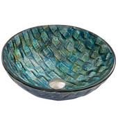 16-1/2''Dia. Oceania Glass Vessel Sink