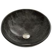 16-1/2''Dia. Gray Onyx Glass Vessel Sink