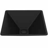 VIGO Serato MatteShell Vessel Bathroom Sink in Black, 15-3/8''W x 15-3/8''D x 5-5/8''H