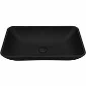 VIGO Hadyn MatteShell Vessel Bathroom Sink in Black, 14''W x 22''D x 4-3/8''H
