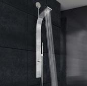 Leo Retrofit Shower Massage Panel in Stainless Steel, 3-1/2'' W x  38-3/8'' H