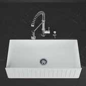 VIGO All-In-One 36'' Wide Matte Stone Farmhouse Kitchen Sink Set With Edison Faucet in Stainless Steel, Strainer, Soap Dispenser
