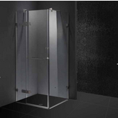 "36'' x 36"" Frameless 3/8'' Clear/Brushed Nickel Shower Enclosure"