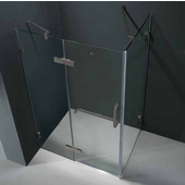 "32'' x 40"" Frameless 3/8'' Clear/Brushed Nickel Shower Enclosure"
