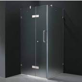 "36'' x 36"" Frameless 3/8'' Clear/Chrome Shower Enclosure"