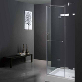36'' x 36'' Frameless 3/8'' Clear/Chrome Shower Enclosure with Base