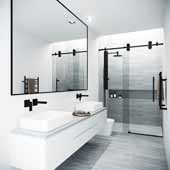 72'' Elan Adjustable Frameless Sliding Shower Door, 37-1/2'' W x 73-3/4'' H