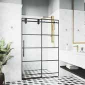Adjustable 56-60'' W  Elan Shower Door in Gold, 60'' W  x 3'' D x 74'' H