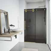 Adjustable 68-72'' W  Elan Shower Door in Black, 72'' W  x 3'' D x 74'' H