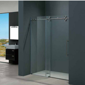 72-inch Frameless Shower Door 3/8'' Clear Glass Stainless Steel Hardware