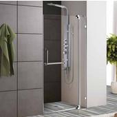 36-Inch Frameless Shower Door, 3/8'' Clear Glass Chrome Hardware