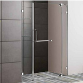 48-Inch Frameless Shower Door, 3/8'' Clear Glass Chrome Hardware