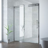 Erie Adjustable Framed Sliding Shower Door in Chrome, 73-1/2''H