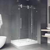 Winslow 48'' W x 36'' D Frameless Sliding Door Shower Enclosure Without Tray/Base