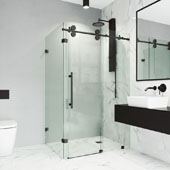Winslow Frameless Sliding Door Shower Enclosure, 46-1/2'' W x 34-5/8'' D x 74'' H