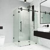 Winslow Frameless Sliding Door Shower Enclosure, 46-1/2'' W x 34-5/8'' D x 74'' H