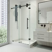 Winslow Frameless Sliding Door Shower Enclosure with Left Drain Base, 48-1/8'' W x 36-1/8'' D x 79-7/8'' H