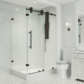 Winslow Frameless Sliding Door Shower Enclosure with Right Drain Base, 48-1/8'' W x 36-1/8'' D x 79-7/8'' H