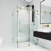 Winslow 48'' W x 36'' D Frameless Sliding Shower Enclosure With Left Tray/Base