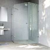 40'' x 40'' Frameless Neo-Angle 3/8'' Clear/Brushed Nickel Shower Enclosure