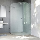 42'' x 42'' Frameless Neo-Angle 3/8'' Clear/Chrome Shower Enclosure