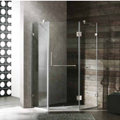 36'' x 36'' Frameless Neo-Angle 3/8'' Clear/Brushed Nickel Shower Enclosure