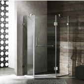 40'' x 40'' Frameless Neo-Angle 3/8'' Clear/Chrome Shower Enclosure