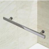 VIGO Orion Clear Curved Bathtub Door in Chrome