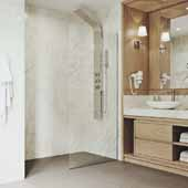 34'' W  Zenith Fixed Frame Shower Screen In Matte Gold