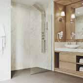 34'' W  Zenith Fixed Frame Shower Screen In Matte Gold