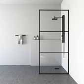 VIGO ''Divide'' Fixed Frame Shower Screen, 33-3/4'' W x 73-3/4'' H