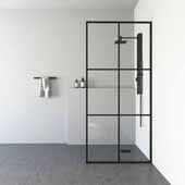 VIGO ''Ventana'' Fixed Frame Shower Screen, 33-3/4'' W x 73-3/4'' H