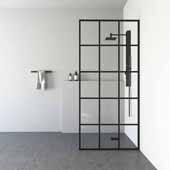 VIGO ''Mosaic'' Fixed Frame Shower Screen, 33-3/4'' W x 73-3/4'' H