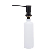 Kitchen Soap Dispenser in Matte Black, Spout Reach: 3-1/2'', Fits 1-1/4'' to 1-1/2'' Opening